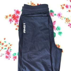 And1 Basketball Navy Warm up Pants (Size S)